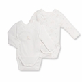 Petit Bateau Unisex Baby and Friends 2 Pack Kimono Onesie - last one 6M!