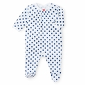 Petit Bateau Watercolor Polka Dots Footie