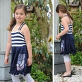 Pom Pom Miepi Nautical Dress
