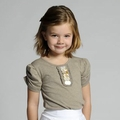 Pom Pom Okje Taupe Top - <B>Size 2/3 years left</B>