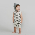 Rylee and Cru Black Bear Button Romper - last one size 3Y!