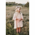 Rylee and Cru Button Shirt Dress in Blush