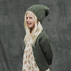 Rylee and Cru Nubby Knit Cardignan in Moss