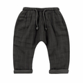 Rylee and Cru Woven Baggy Pant in Vintage Black
