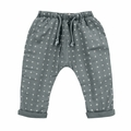 Rylee and Cru Woven Baggy Pant in Washed Indigo - <B>Last One Size 18-24m</B>