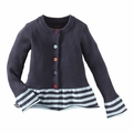 Tea Collection Bongani Stripe Sweater in Indigo - <B>Size 2 & 4</B>