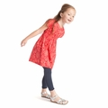 Tea Collection Cape Parrot Bubble Dress in Red Pepper