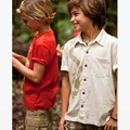Tea Collection Temple Garden Stone Dragon Camp Shirt - <B>Last one size 2</B>
