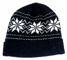 Knit Snowflake Warm Winter Fleece Lined Hat