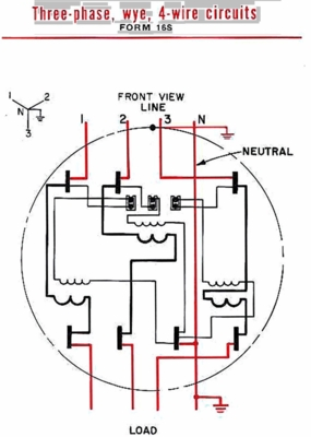 3 Phase, 4 Wire - Form 16S