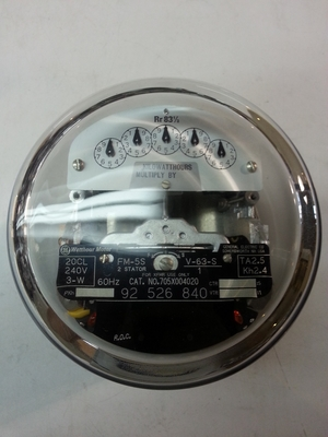 GE Watthour Meter Form 5S CL 20 240V