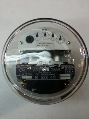 GE Watthour Meter Form 6S CL 20 240V