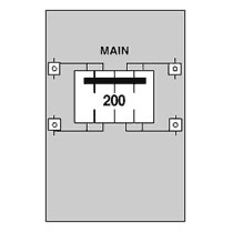 Midwest 200A Surface Unmetered 9x21 Power Outlet