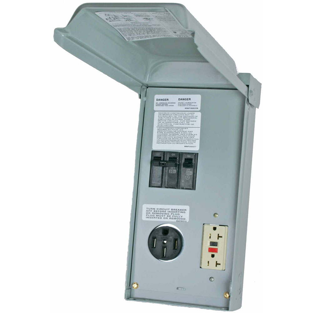 Midwest 70A Surface Unmetered 50/20GFCI Power Outlet