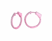 1 Pointer hoop earrings/patented snap lock