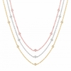 10 pointer 3 strand diamond necklace