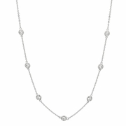 15 pointer diamond half way around necklace