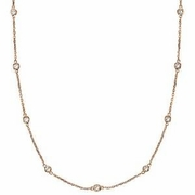 """2 pointer 14 section 18"""" diamond necklace"""