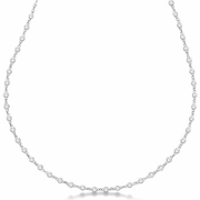 """2 pointer 67 section 17"""" diamond necklace"""