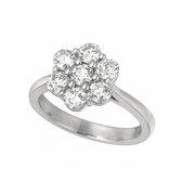 21 Pointer diamond flower ring