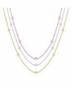 3 strand diamond necklace