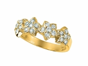 4 Flowers diamond ring
