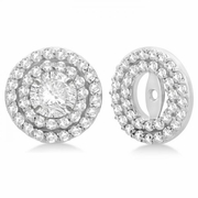 4mm diamond earring jackets