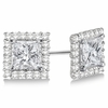 4mm  square diamond earring jackets