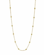 "5 pointer 14 section 18"" yellow diamond necklace"