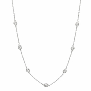 5 pointer diamond half way around necklace