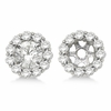6MM Diamond jacket earrings