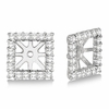 6mm square diamond earring jackets