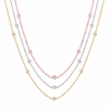 7 pointer 3 strand diamond necklace