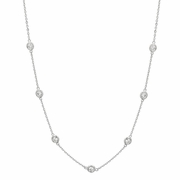 7 pointer diamond half way around necklace
