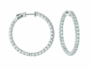 7 Pointer hoop earrings/patented snap lock