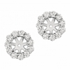 7mm diamond earring jackets