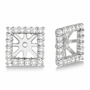 7mm square diamond earring jackets