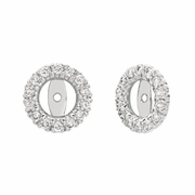 8mm diamond earring jackets