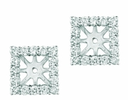 8mm square diamond earring jackets