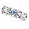 Antique Style Sapphire & Diamond Fashion Ring, 14K White Gold