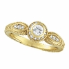 Bezel Diamond Ring 14K Yellow Gold
