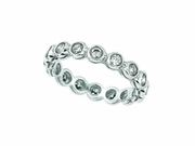 Bezel Set Diamond Eternity Band Ring