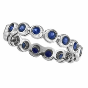 Bezel Set Eternity Sapphire Ring Band