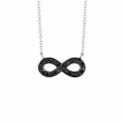Black diamond infinity necklace