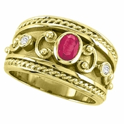 Byzantine Ruby & Diamond ring
