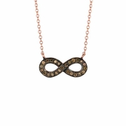 Champagne diamond infinity necklace