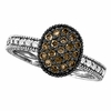 Champagne diamond oval ring