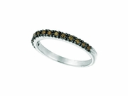 Champagne Diamond Stackable Ring, 14K White Gold