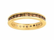 Channel set champagne diamond eternity band
