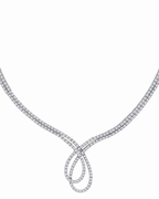 Designer Diamond Necklace, 14K White Gold